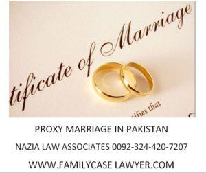 Proxy marriagane procedure in Pakist