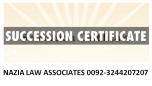 Succession certificate sample